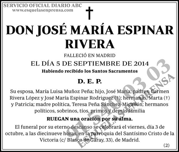 José María Espinar Rivera